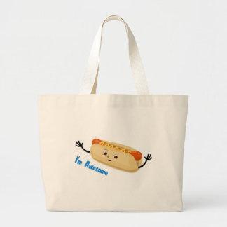 I m Awesome hotdog Tote Bag