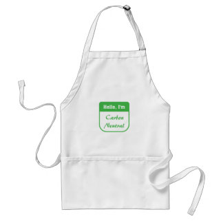 I m carbon neutral apron