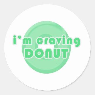 I m craving donut green sticker