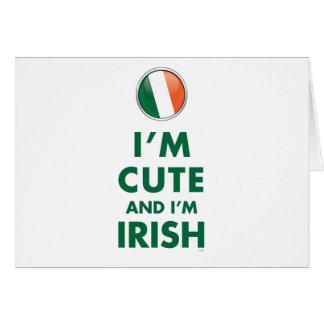 I'M CUTE AND I'M IRISH GREETING CARD