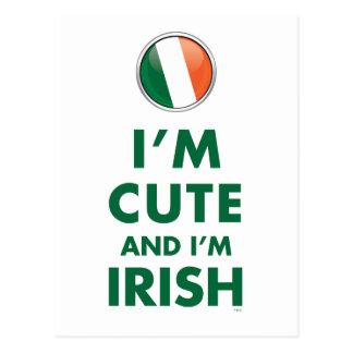 I'M CUTE AND I'M IRISH POST CARDS
