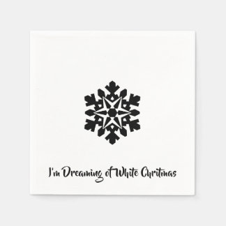 I'm Dreaming of a White Chritmas Disposable Napkin