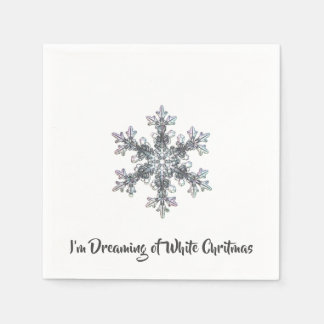 I'm Dreaming of a White Chritmas Disposable Serviette