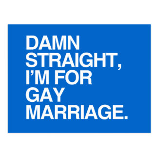 I M FOR GAY MARRIAGE POST CARD