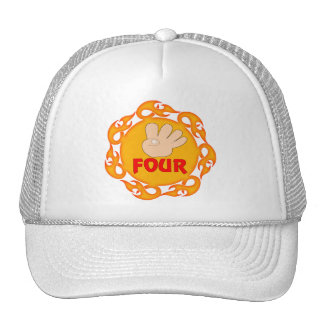 I m Four 4th Birthday Gifts Hats