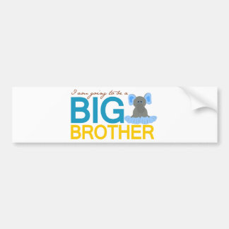 I m Going to be a Big Brother Elephant Bumper Stickers