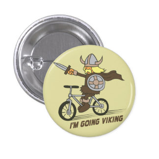 I m Going Viking Funny Wordplay Flair Button