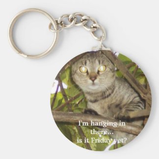 I m hanging in there is it Friday yet Keychain