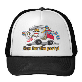 I m Here For The Party Golf Cart Girls Trucker Hats