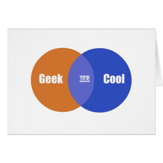 I m in the middle of being a geek and cool greeting card