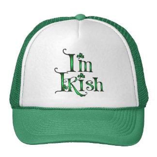 I M IRISH by SHARON SHARPE Trucker Hats