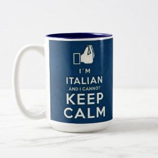 I m Italian I cannot keep calm Coffee Mug