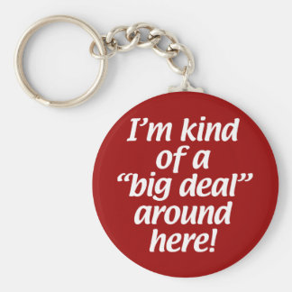 I'm kind of a big deal around here. basic round button key ring