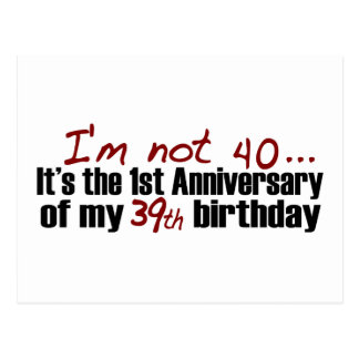 I M Not 40 Postcard