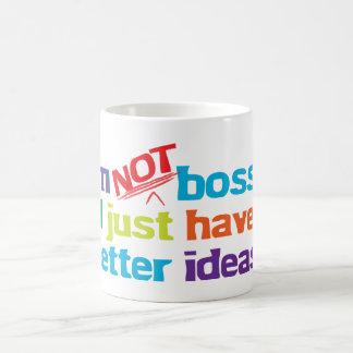 I'm not bossy. basic white mug