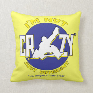 I m Not Crazy Hockey Goalie Pillow