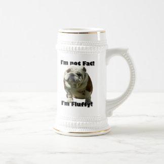 I m not fat bulldog beer stein mug