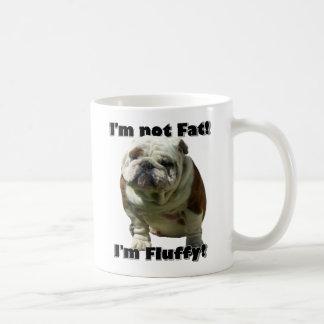 I m not fat Bulldog mug