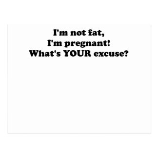 I M NOT FAT I M PREGNANT WHAT S YOUR EXCUSE png Post Card