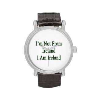 I m Not From Ireland I Am Ireland Wristwatch