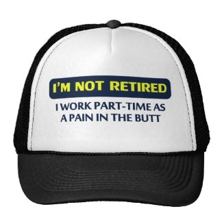 I'm not retired, I work part-time as a pain Cap