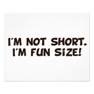 I m Not Short I m Fun Size Flyers