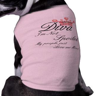 I m Not Spoiled Diva Dog t-shirt