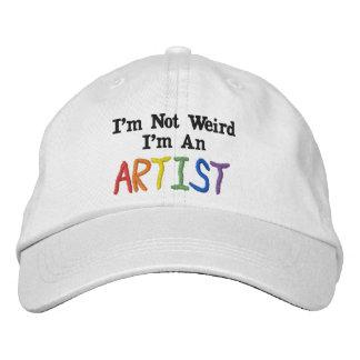 I m Not Weird I m An Artist Embroidered Baseball Caps
