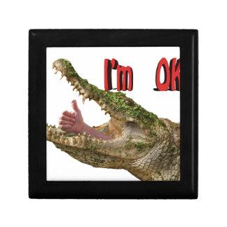 i m ok croc keepsake box