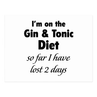 I'm On The Gin & Tonic Diet Postcard