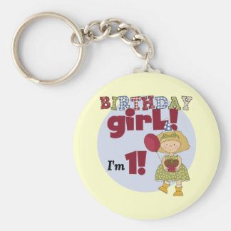I m One Birthday Girl Tshirts and Gifts Keychains