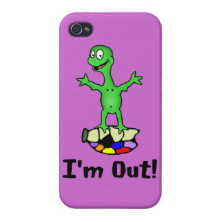 I'm Out Turtle Cover For iPhone 4