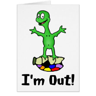 I'm Out Turtle Greeting Card Card