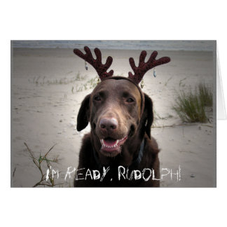 I m ready Rudolph Greeting Cards