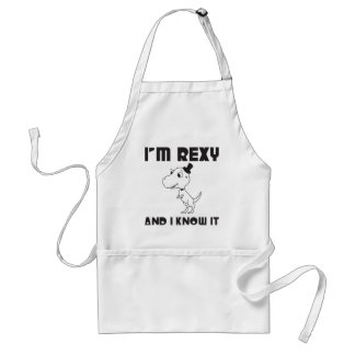 I m Rexy And I Know It Aprons