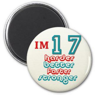 I m Seventeen Harder Better Faster Stronger Birt Magnet