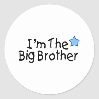 I m The Big Brother Round Stickers