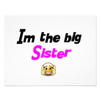 I m the big sister announcements