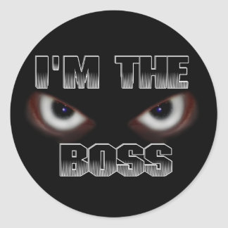 I M THE BOSS ANY QUESTIONS STICKERS