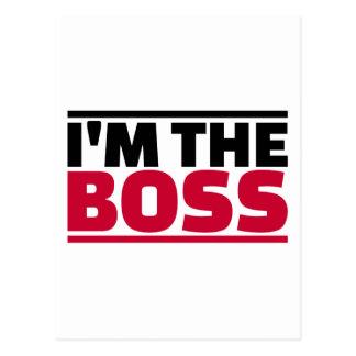 I'm the boss postcard