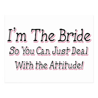 I m The Bride Postcards