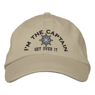 I m the Captain Get Over It Wheel Embroidered Hats