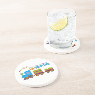 I m the cutest Lil Brother Beverage Coasters