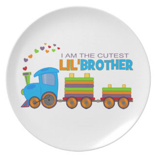 I m the cutest Lil Brother Party Plates