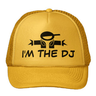 I m the DJ hat Cap with DJ wearing headphones