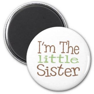 I m The Little Sister Green Fridge Magnet