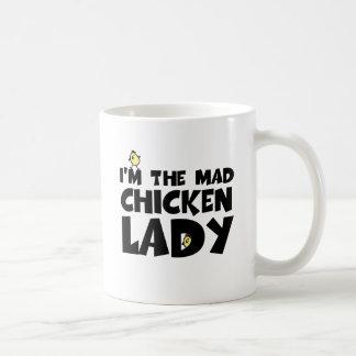 I m the mad chicken lady coffee mug