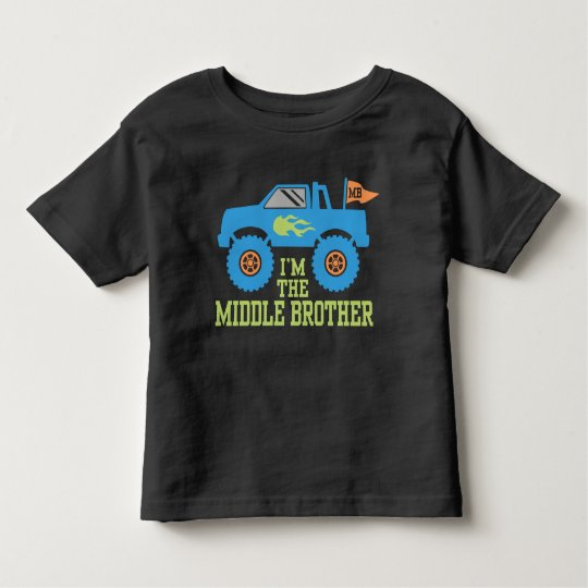I'm The Middle Brother Monster Truck Toddler T-Shirt