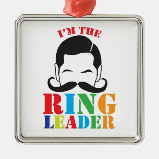 I m the RING LEADER with male circus man mustache Christmas Tree Ornament