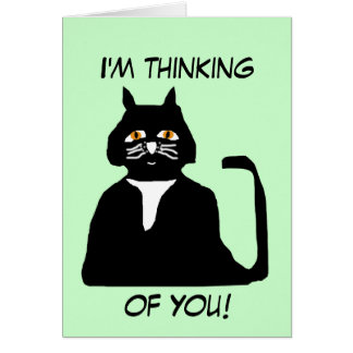 I m thinking of you cat card